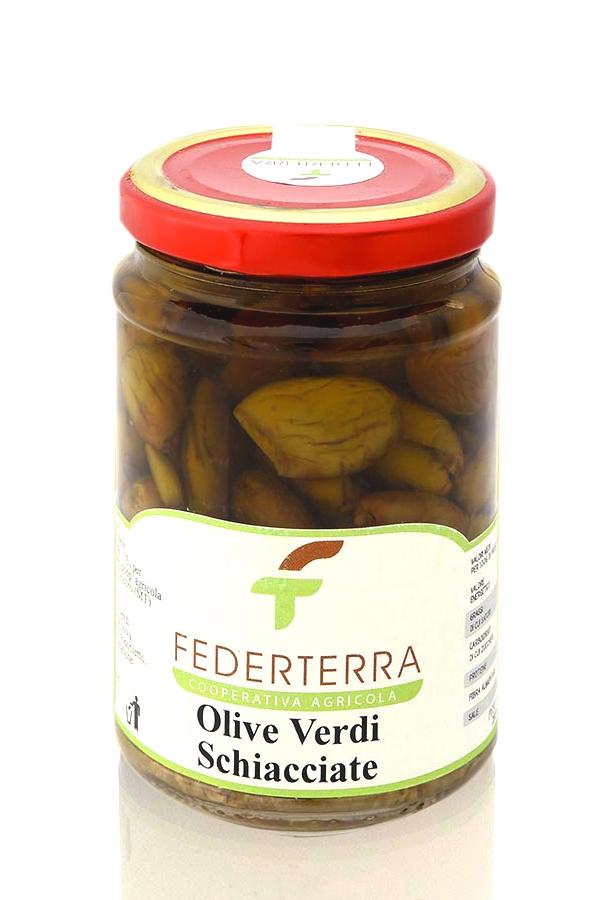 olive verdi schiacciate federterra